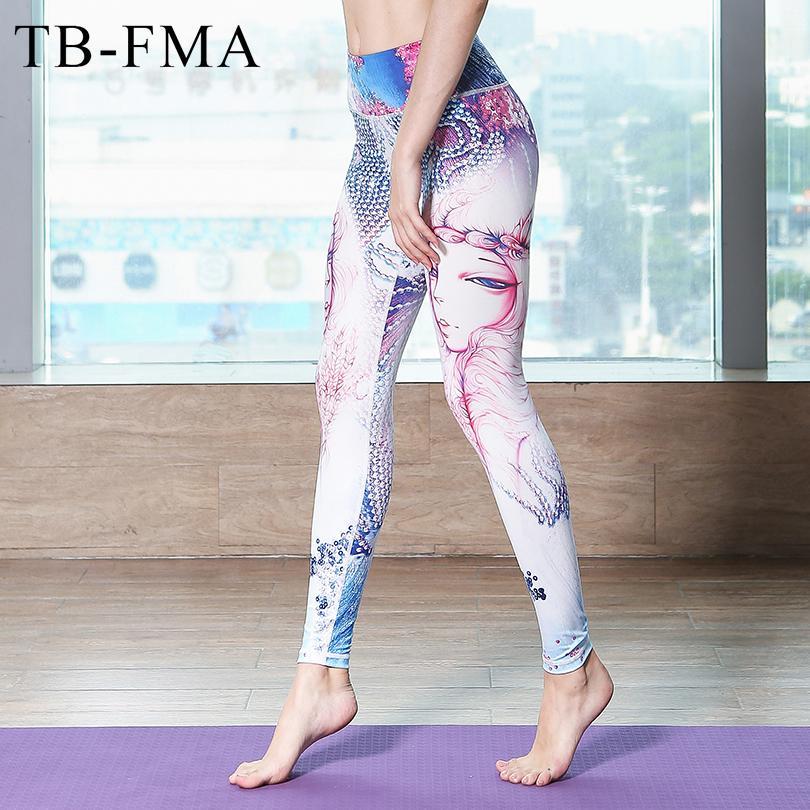 6fc287e3dea402 Großhandel 2017 Neue Frauen Gedruckt Sport Leggings Elastische Fitness Yoga  Hosen Legging Gym Kleidung Laufhose Sportbekleidung Weibliche Hosen Von  Guankem2 ...