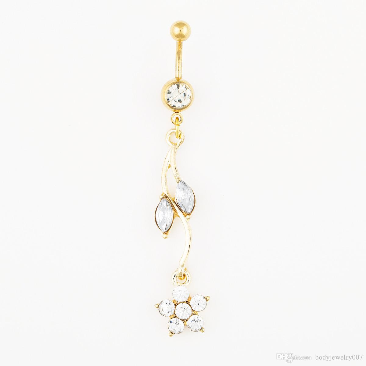 D0528-1 es Joyería corporal Nice Style Nave Belly Ring Mix