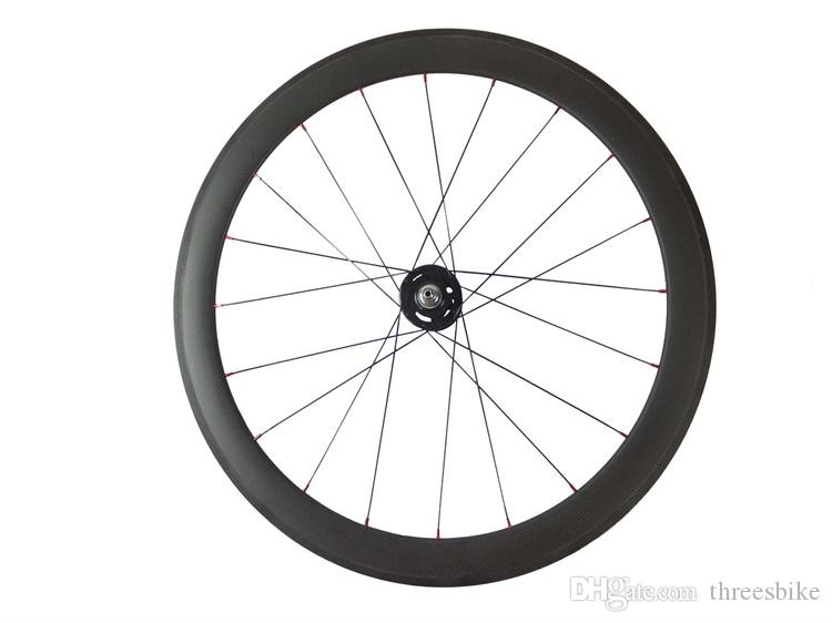 100% carbon fixed gear wheels fonrt 38mm rear 50mm track bicycle wheelset 23mm width rims