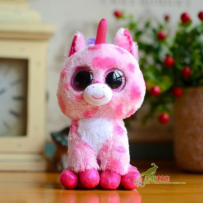 4c55fce3494 2019 TY Beanie Boos 2015 New TY Big Eyes Unicorn Doll For Cellection 15cm  Classical Gift For Kids From Xiuping