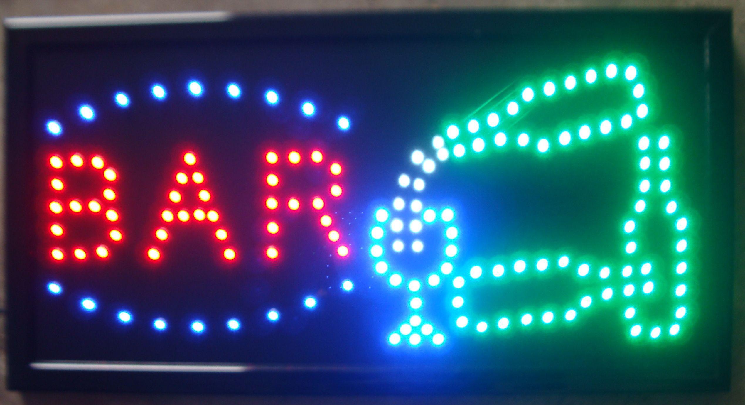 2019 2016 Open Bar Led Neon Business Motion Light Sign. On