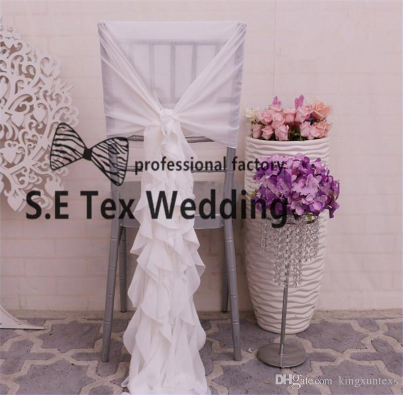 Chiavari Chiffon Wicker Chair Cover Chair Jacket Hood For Wedding Event Decoration