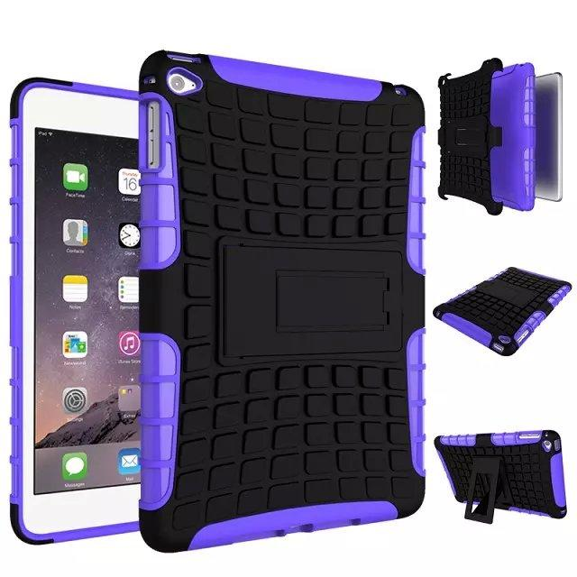 iPad mini 4 shell TPU + PC 2in 1 rubber Armor Defender Hybrid Heavy Duty phone case,