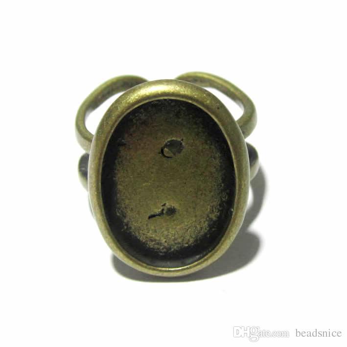 비즈 니스 니트 링 기본 설정 카보 숑 링베이스 블랭크에 최적 의상 보석 용 ID 7351