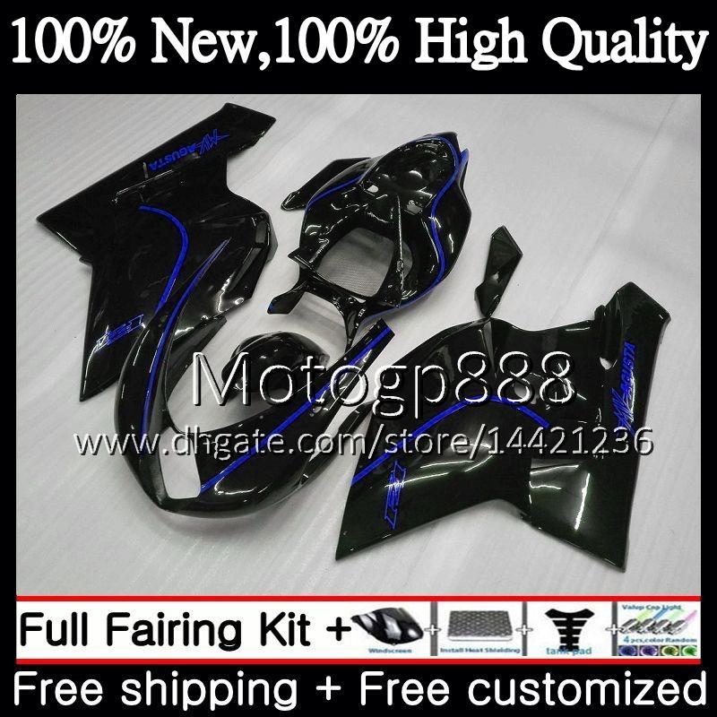 Body For MV Agusta F4 05 06 R312 750S 05 1000 R 750 1000CC 13PG16 1000R 312 1078 1+1 Blue black MA MV F4 2005 2006 05 06 Fairing Bodywork