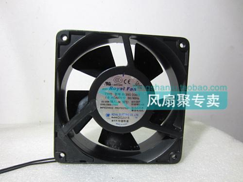 Originele Royal Fan R125C [C01] 12 cm 120 * 120 * 38mm 200v 22W Waterdichte aluminium box fan