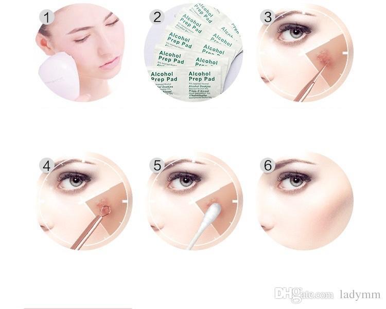 7 Pçs / set Removedor de Cravo Ferramentas Kits Pimple Blemish Extractor Acne Remover Tool Set Make Up Kit Ferramenta de Beleza Cabeça Preta Agulha Whitehead