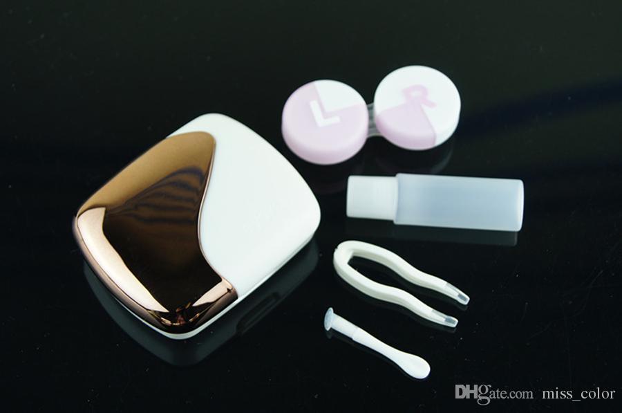 K1601 Good Quality Contact Lenses Case Cheap Bottle Contact Lens Case Eyeglasses Case Great for Travel
