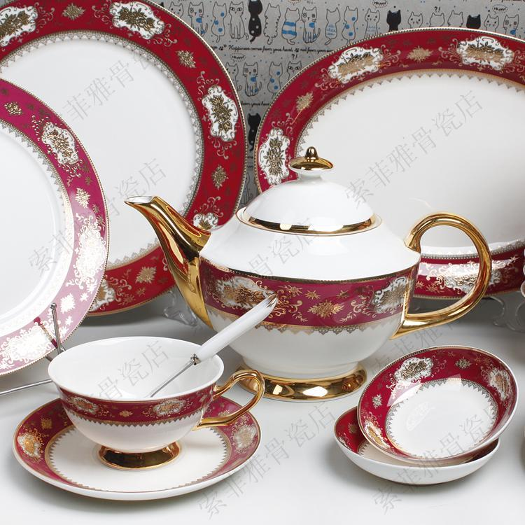 See larger image & Dinnerware Sets 88 Head Gold Tableware Luxurious European Style ...