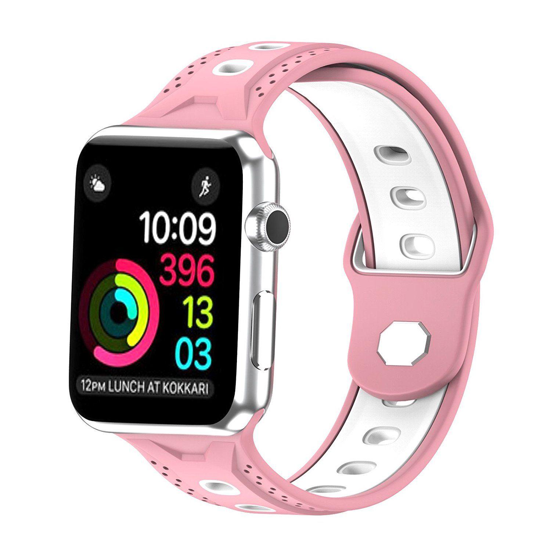 13a050abd1d Compre Substituição Silicone Sport Strap Wristband Para 38mm   42mm Apple  Watch Iwatch Série 3 2 1