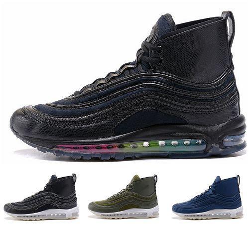 Top Quality Cheap Brand Men S Winter Air 97 High Cut Running Shoes 2018 Air  Cushion High Top Sport Shoes Air Sole Warm Sneaker Boots Running Shoes For  Flat ... 2e5ec8456e35