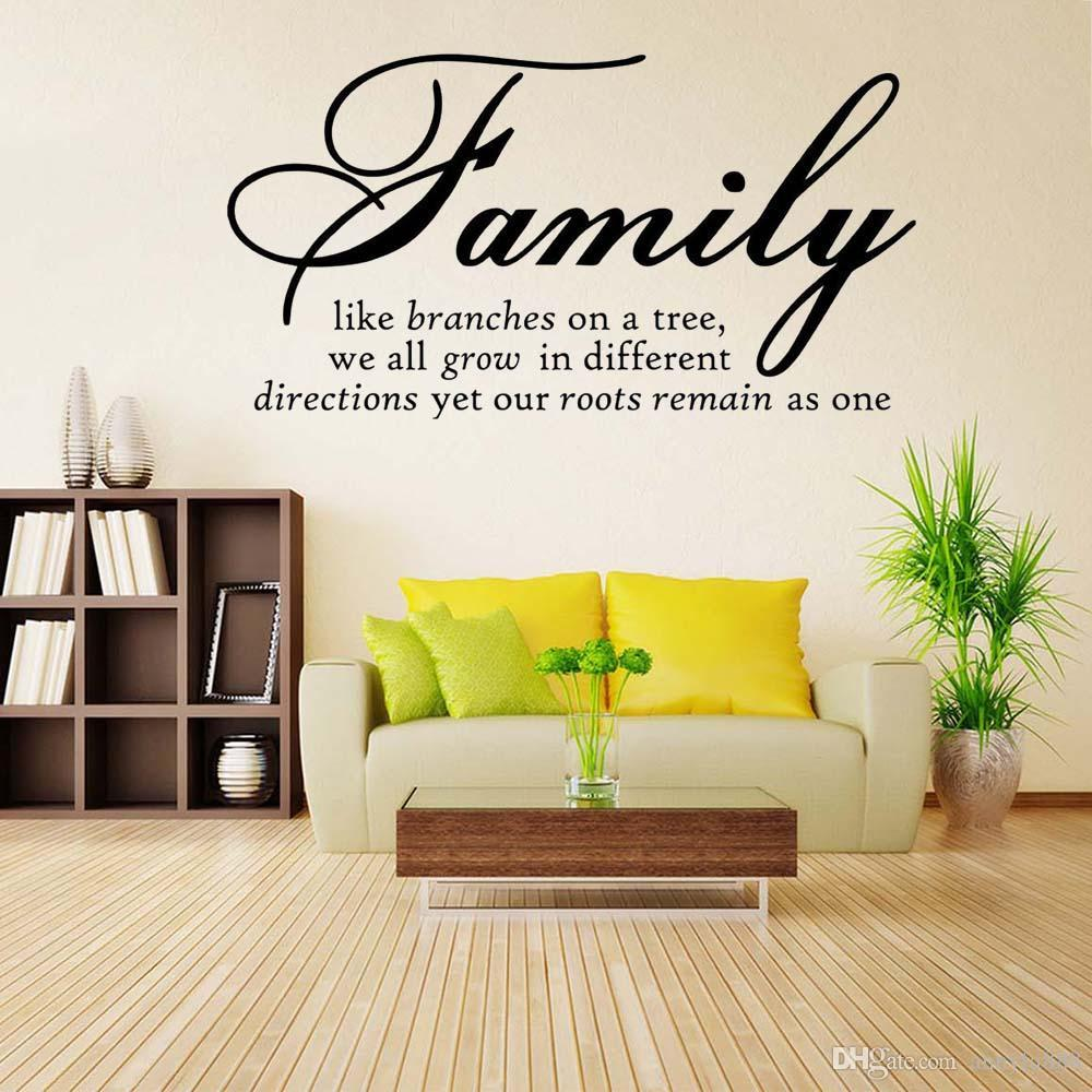 Family Like Branch Quote Wall Stickers Home Decor Removable Vinyl ...