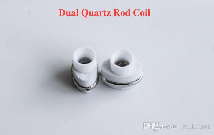 wax ceramic dual quartz coil for micro g dry herbal vaporizers pen Wax elip atomizer e cigarette g pro vaporizer pen Coils
