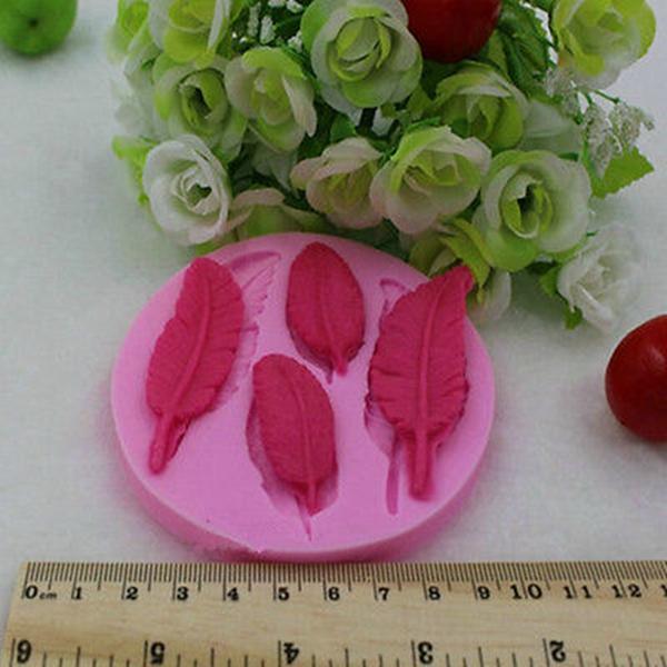Hot Sale Mini Feather Silicone Handmade Fondant/Cake Decorating DIY Mold Baking Tools New