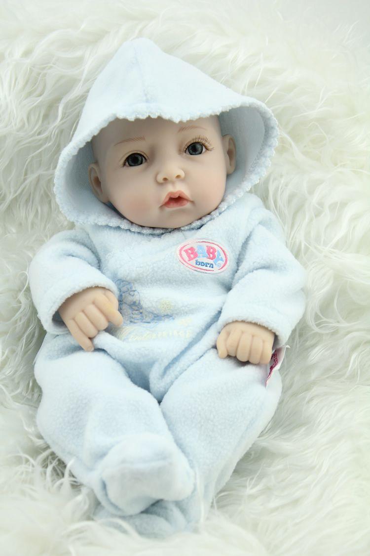 10 Inches Full Vinyl Reborn Baby Boy Doll Lifelike Mini