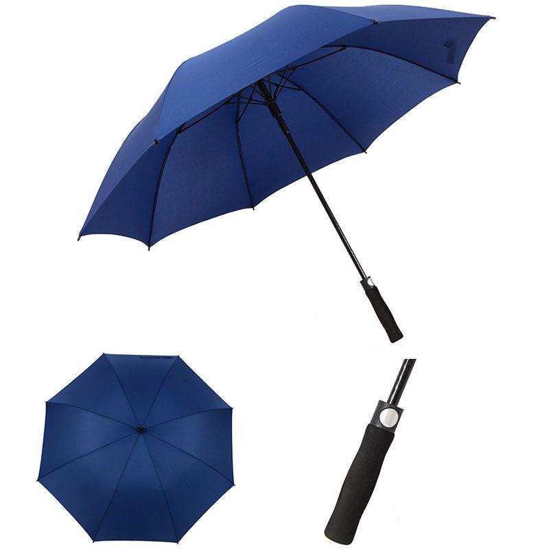 Windproof Pongee Hetero Cabo longo Golf Course on-chuvas inteiramente automáticas ensolarado chuvoso Guarda-Chuva Gear Solid Cores