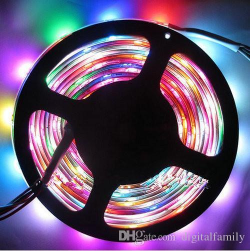 Süper parlak led şerit 5 V 60Led / M programlanabilir WS2812B RGB 5050 LED şerit Dijital Bireysel adreslenebilir sihirli rüya renk Su Geçirmez IP67