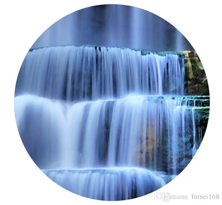 Grande 3D Cliff Water Falls Shower vasca da bagno Art Wall Mural Floor Decalcomanie Design creativo la decorazione domestica Cascata Wallpaper Rolls