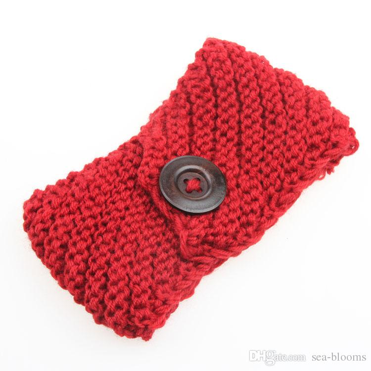 Handmade Women's Fashion Wool Crochet Headband Knit 2015 winter Hair band Flower Winter Ear Warmer headbands D699M