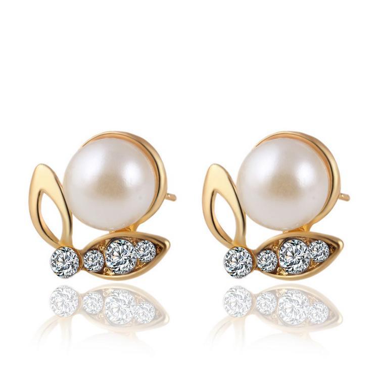 Жемчужное ожерелье серьги ювелирные наборы для женщин мода высокое качество Кристалл ювелирные изделия бабочка жемчуг комплект ювелирных изделий 42D23