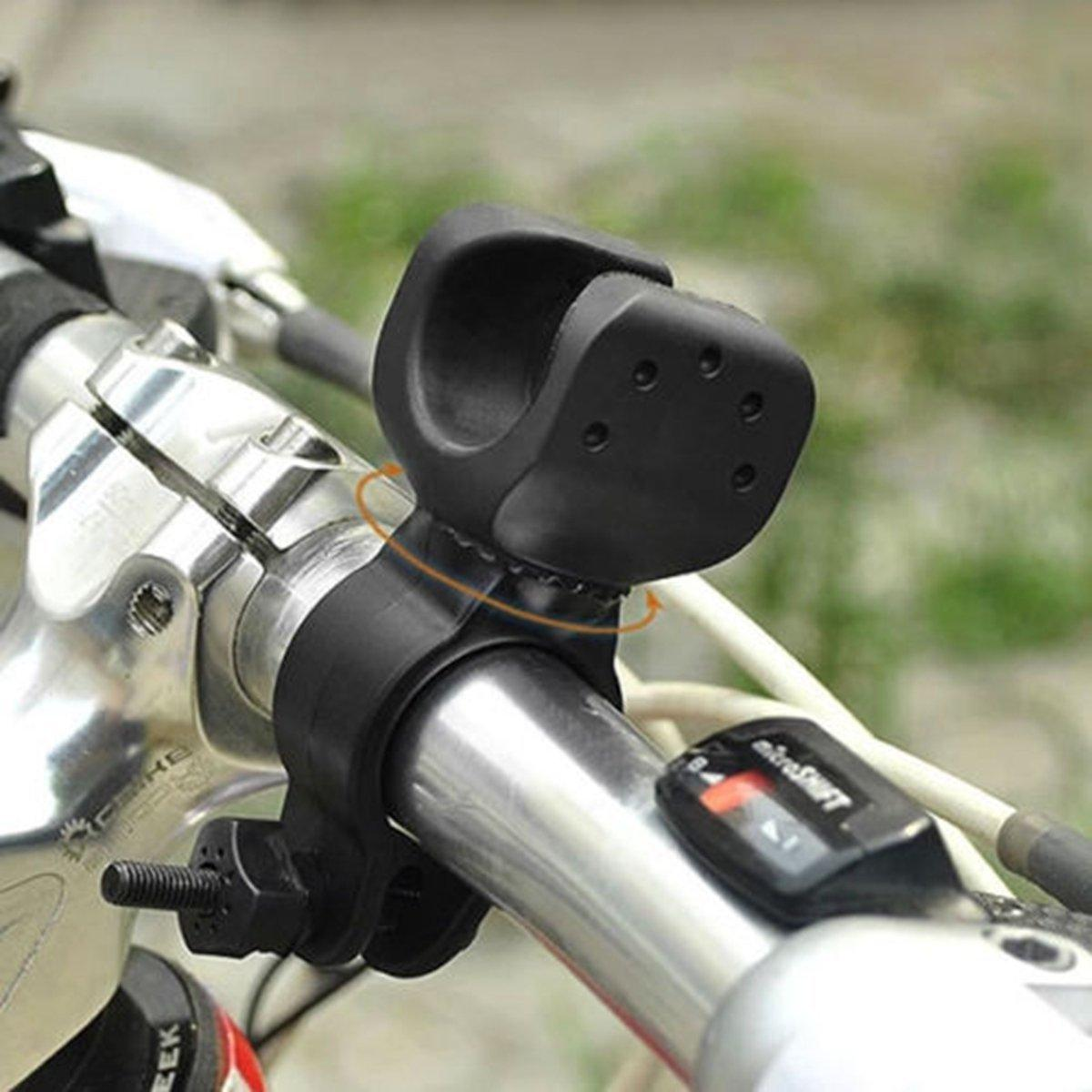 360 Derece Döner Bisiklet Bisiklet Bisiklet LED el feneri Ön Lamba Montaj Tutucu Klip Yüksek Kalite Bike Cycling Işık Aksesuarları