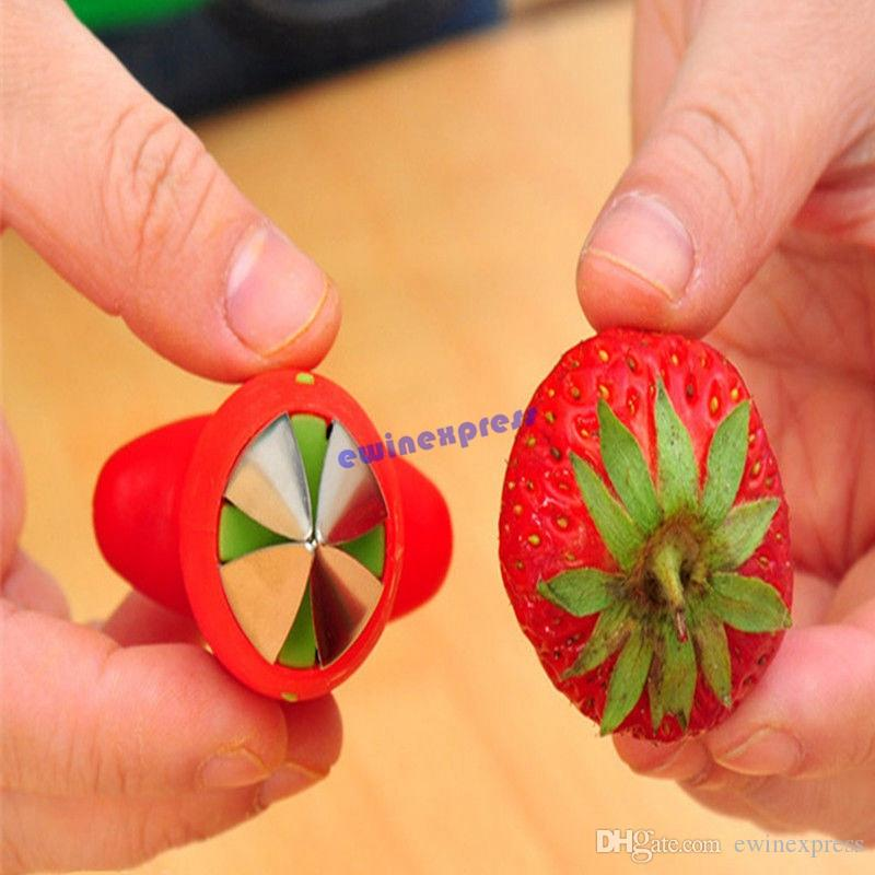 Strawberry Tomato Huller Berry Corer Remover Removal Tool Gadget