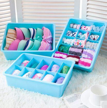 Newest Underwear Storage Box Three Piece Solid Bra Organizer Storage Box  For Home Decoration