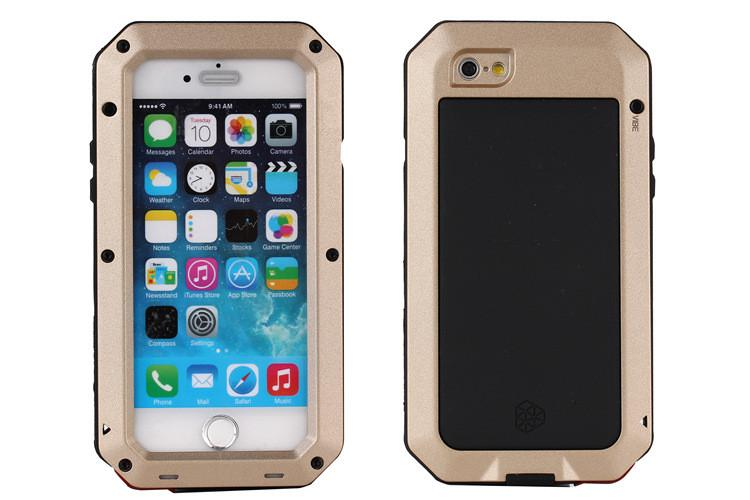 Aluminum Metal Premium Extreme Protection Case Luxury Armor Dirt Shock Waterproof Gorilla Glass Cover for iPhone 5s 6s 6 plus Samsung S5