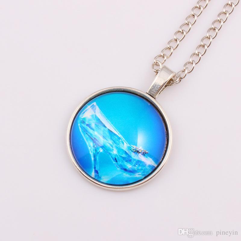 Une chanson de glace et de feu jeu de stark wolf collier collier de pierres précieuses Langtou time Photo collier de cabochons de verre photo