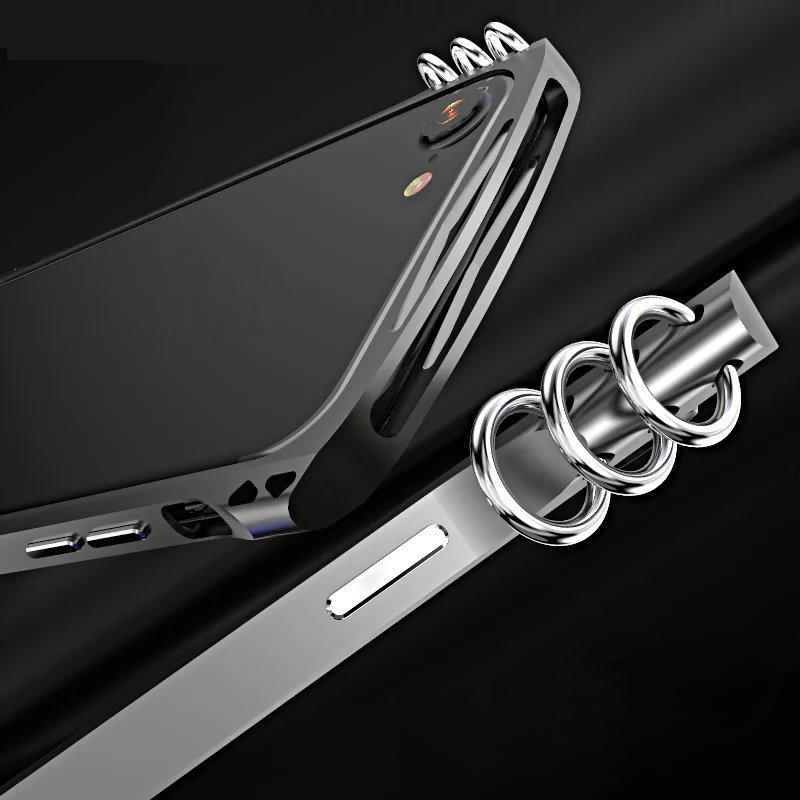 eClouds New design earrings metal bumper case for iphone 7 7P luxury aviation aluminum frame phone cases cover for iphone 7 plus