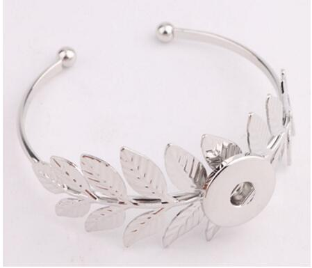 Flor de prata folha de sol 18mm botão de pressão acessórios de moda jóias pingente pulseira Noosa botões snap botão giner botão pulseira pulseira