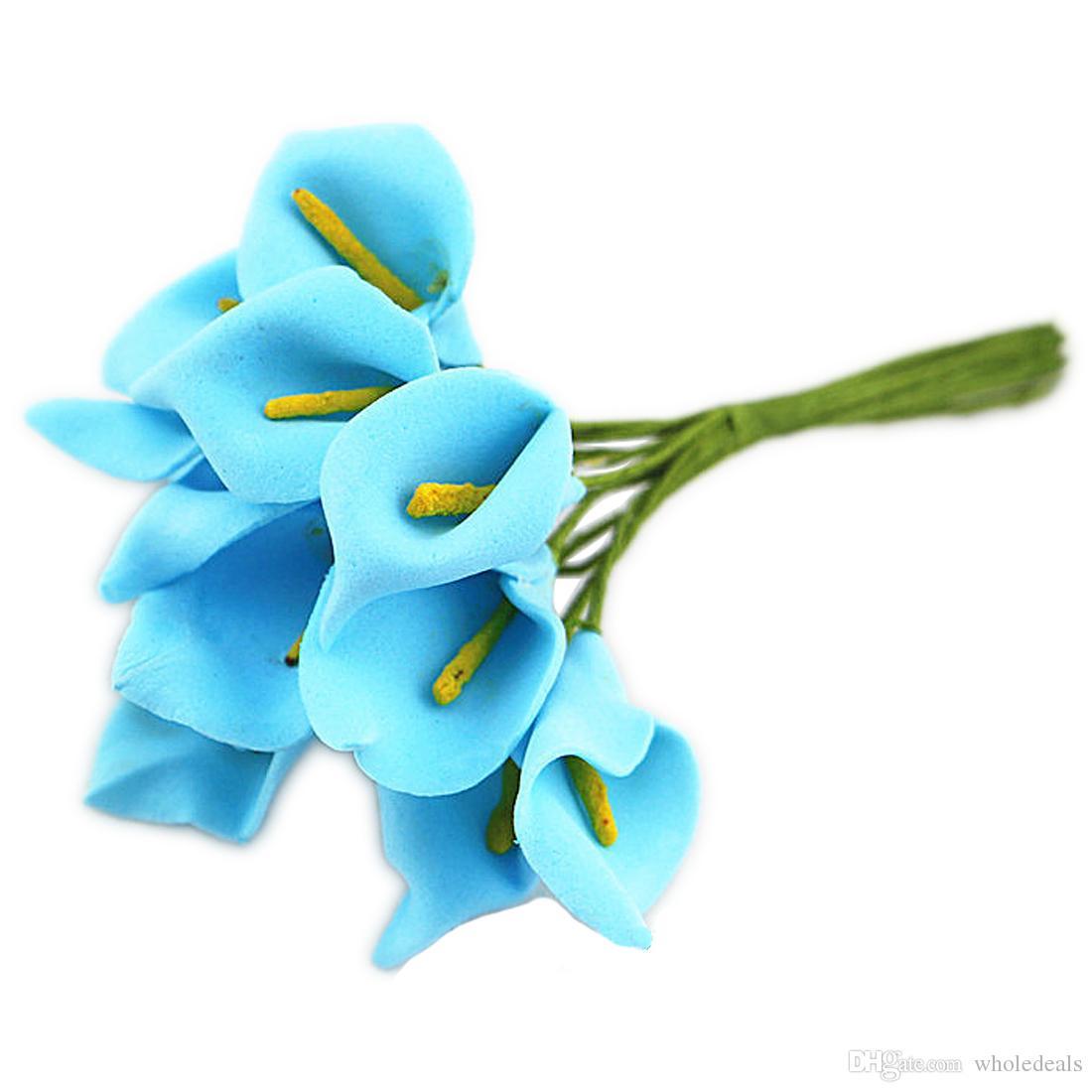 / мини пены Calla ручной искусственный цветок букет свадебное оформление DIY венок подарочной коробке Scrapbooking Craft поддельный цветок