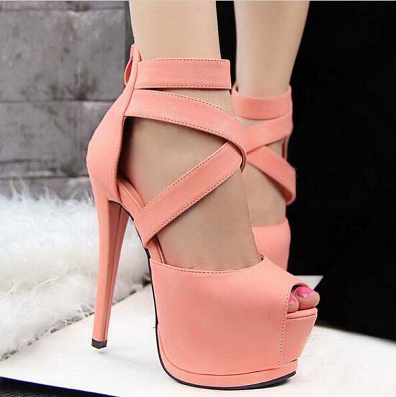cd53dd20a34 2019 European Fashion Women S Sandals Sexy New Women Summer Shoes 2015  Platform High Heels Sandals Bayan Ayakkabi Sapato Feminino From Ht1988829