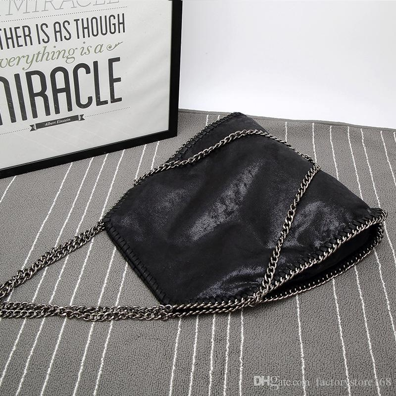 New Arrival Chain Deigner women handbags PU shoulder bucket bags Folded up Crossbody Bags Luxury female bags