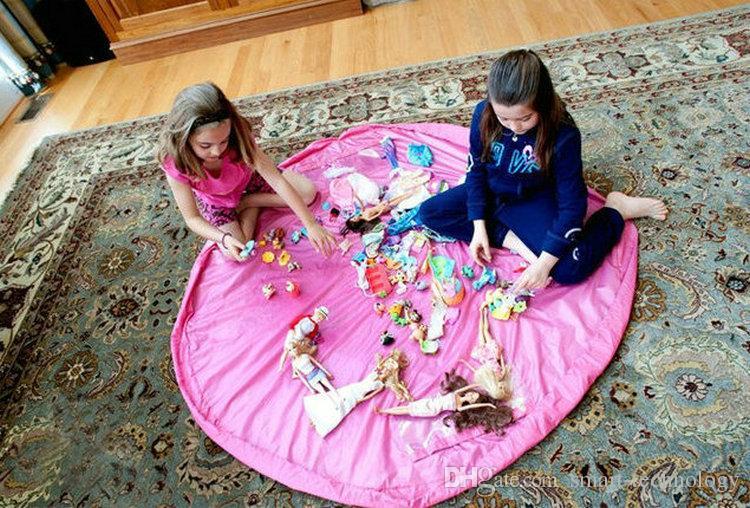 Grandi sacchetti di immagazzinaggio del giocattolo della stuoia del gioco del portatile 40cm 150cm il bambino infantile del bambino che gioca le scatole del tappeto della coperta dell'organizzatore della stuoia facile