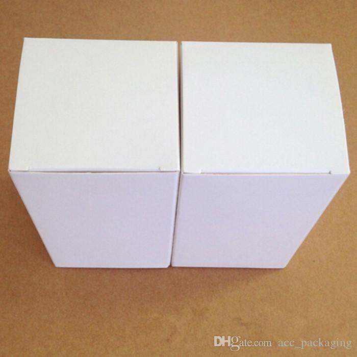 小売8 * 8 * 8 * 10cmのDIYの白い段ボール紙の折りたたみ箱のギフト包装箱の包装箱香水化粧品びん