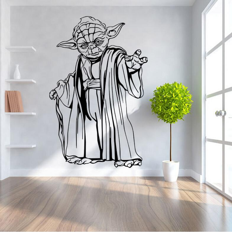 Big Size Star Wars Wall Stickers Home Decor Darth Vader Yoda 3d