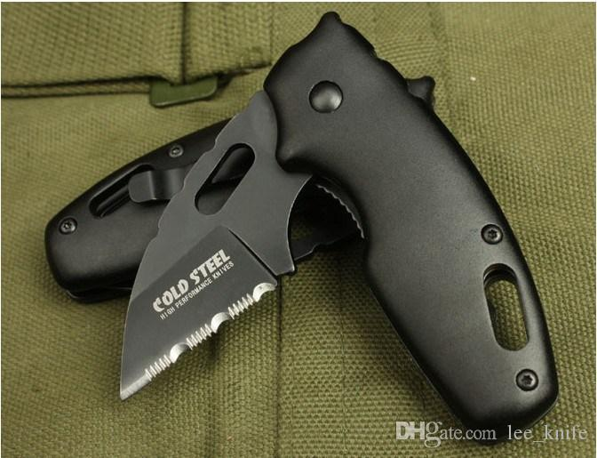 COLD STEEL 710MTS Folding Pocket Knife 440C Blade Aluminum Handle Camping Survival Knife