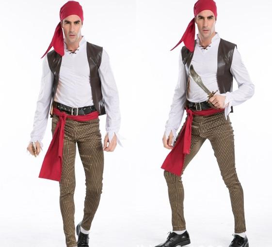 colorwhite size  L M materialpolyester styleHalloween cosplay men sailor Navy sailors loaded cosplay uniforms  captain jack.free shipping  sc 1 st  DHgate.com & Male Pirate Captain Jack Fitted Clothes Halloween Costume Adults ...