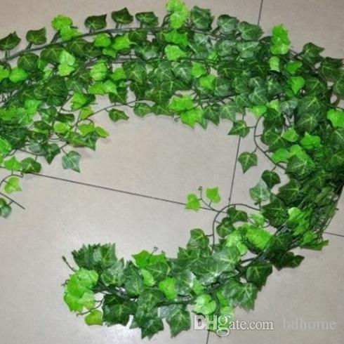 Atacado-Hot Selling Artificial Ivy Leaf Garland Plantas Vine Fake Foliage Flowers Home Decor decorações do feriado agora