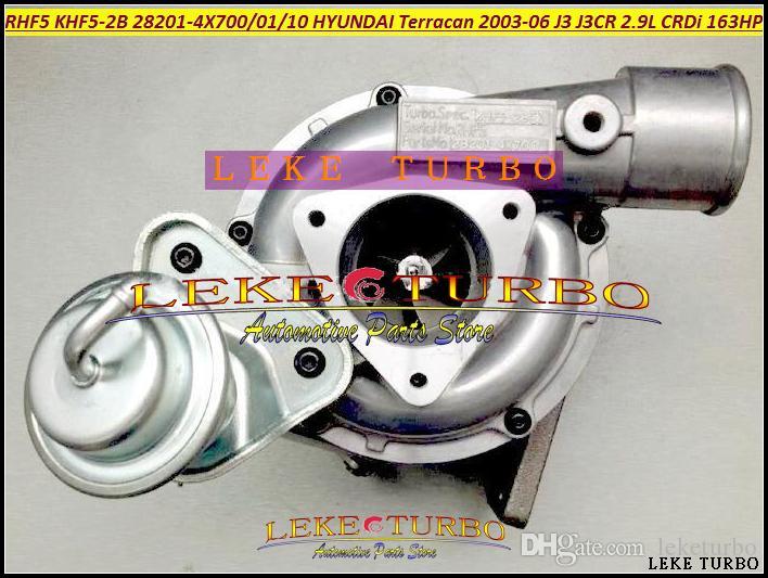 Atacado RHF5-2B KHF5-2B 28201-4X700 28201-4X701 28201-4X710 Turbo Turbocompressor Para HYUNDAI Terracan Carro 2003-06 J3 J3CR 2.9L CRDi 163HP