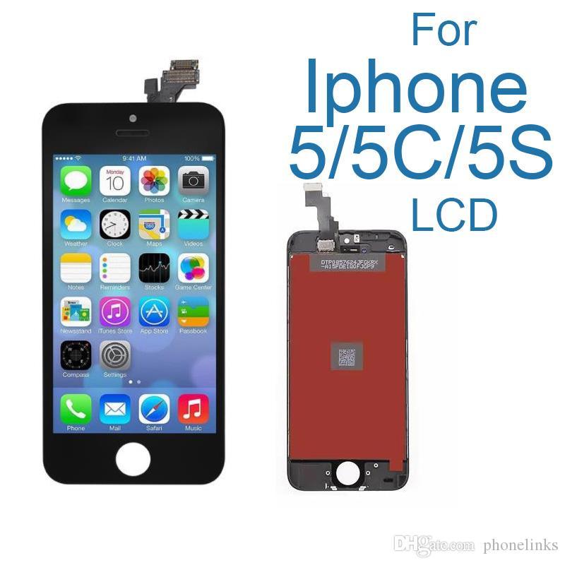 1130de30e43 Pantalla AAA para Apple iPhone 5 5s 5c Pantalla LCD ensamblaje de la pantalla  táctil con