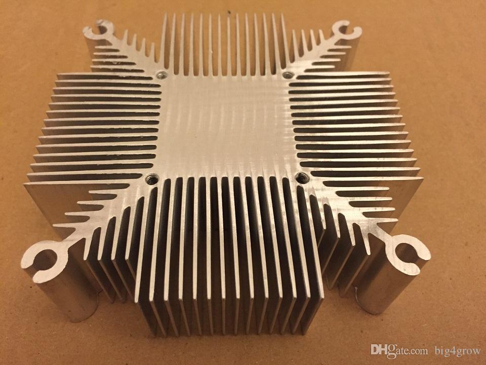 trasporto 20W-50W dissipatore di calore in alluminio puro multichip led raffreddamento DIY LED coltiva la luce