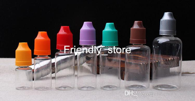Bottiglia di PET vuota bottiglia vuota di Cig e bottiglia vuota di contagocce di plastica con tappo a prova di bambino bottiglie di ago 10ml