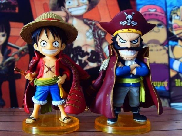 Japanese Toy Companies : One piece luffy and gol d roger cute figure toys japan anime