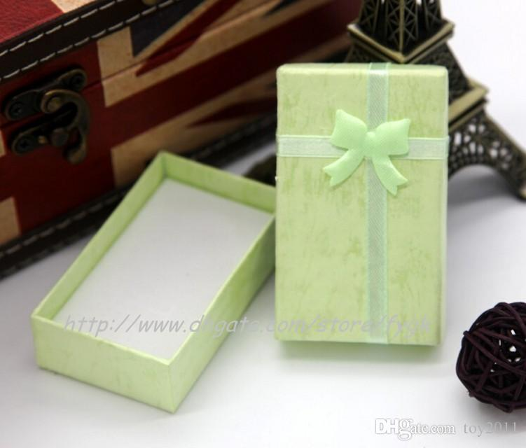 Mode-Display Verpackung Geschenk-Boxen Schmuck-Box, Anhänger Box, Ohrringe Box 5 * 8 * 2,5 cm 10 Farbe zur Auswahl