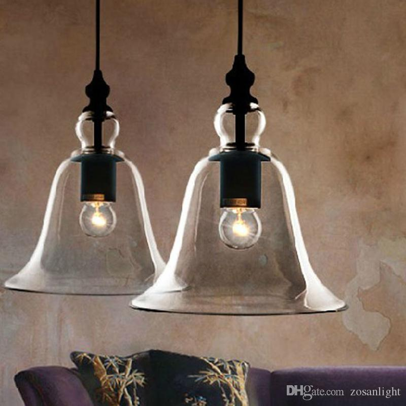 Edison Modern crystal bell glass pendant Lamps Dining room Indoor Contemporary chandelier lighting fixtures E27 110-240V bl-010-1