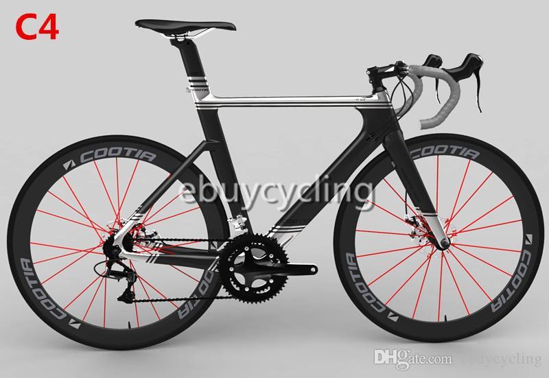 Sliver Black Carbon Road Bike Frameset Matte Carbon Fiber