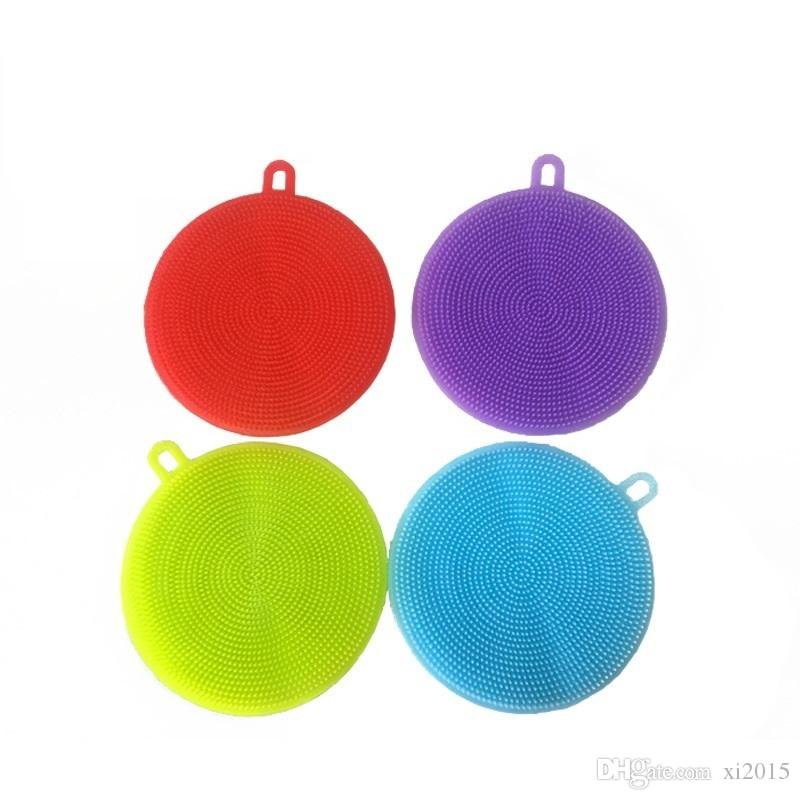 Magic Silicone Dish Bowl Cleaning Brushes Scouring Pad Pot Pan Wash Brushes Cleaner Kitchen Supplies wen4604