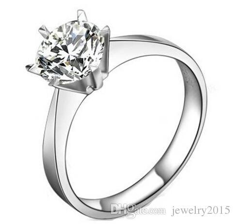 Grosshandel 100 925 Sterling Silber 1ct Sona Simulierte Diamanten
